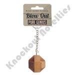 Brainteaser Wooden Puzzle Keychain - Pure Genius Blowout