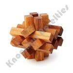 Brainteaser Wooden Puzzle - Pure Genius Stumped