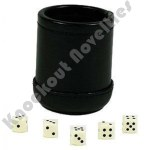 Deluxe Dice Cup With 5 Standard Dice