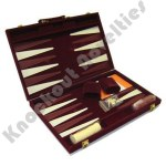 "18"" Burgandy Backgammon Set"