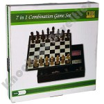 7 In 1 Game Set - Black Leatherette 11""