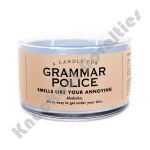 Grammar Police Candle