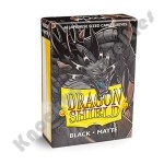 60 Deck Protector Sleeves: Dragon Shield: Japanese Matte - Black
