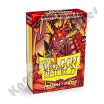 60 Deck Protector Sleeves: Dragon Shield: Japanese Matte - Crimson