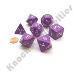 7 Polyhedral Dice Set - Jumbo Purple with White