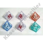 6 10 Sided Double Dice - Assorted Colors