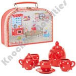 Red Ceramic Tea Set - La Grande Famille