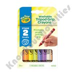 8 ct. My First Crayola Washable Tripod Grip Stage 2 Crayons