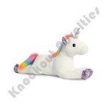 "27"" Super Flopsie - Rainbow Unicorn"