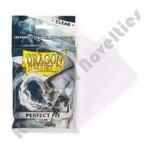 (100) Deck Protector: Dragon Shield Perfect Fit Clear