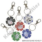 "(Dozen) 1.5"" Poker Chip Keychain"