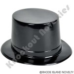 (Dozen) Black Plastic Top Hat