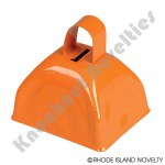 "(Dozen) 3"" Orange Metal Cowbell"