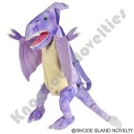 "20"" Dinosaur Backpack Pteranodon, Purple"