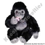 "8"" Animal Den Baby Gorilla W/Pacifier"