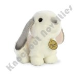 "8"" Miyoni Lop Eared Rabbit With Grey Ears"