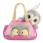 """7"""" Fancy Pals Pet Carrier Peek-A-Boo - Owl"""