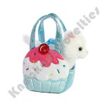 "7"" Fancy Pals Pet Carrier Blue Cupcake Kitty - Sweets"