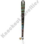 Lanyard with Soft Touch Dangle - Justice League Aquaman