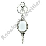 Pewter Key Ring - Princess - Beauty & Beast Mirror