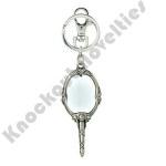 Pewter Key Ring - Princess - Beauty & Beast Mirror