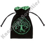 Dice Bag: Forest Black / Green Velour