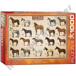 1000 Piece Puzzle - Horses