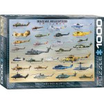 1000 Piece Puzzle - Military Helicopters