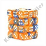Gemini 6: 12mm D6 Blue Orange/White (36)