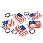 """144 Piece - 2"""" American Flag Keychain"""