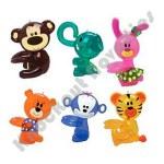 """Dozen - 14"""" Hug-Me Zoo Animal Inflate Assortment"""