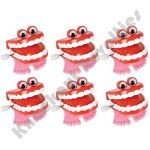 "Dozen - 1.75"" Chatter Teeth With Eyes"