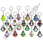 "20 Piece - 1.5"" Collectable Penguin Keychains"
