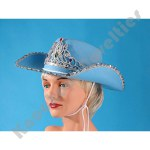 Cowgirl Hat With Sequins & Tiara - Blue