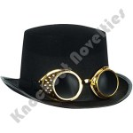 Steampunk Black Top Hat