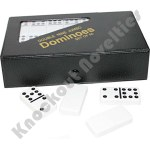 Double 9 Jumbo White Dominos With Vinyl Case