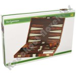 "18"" Brown & White Backgammon Set"