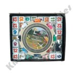 Double 12 Numbered Mexican Train Dominos With 2-In 1 Hub Train & Chicken