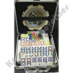 Double 12 Colored Dots Mexican Train Dominos Aluminum Case