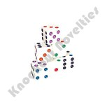 200 Piece 16mm Color Dots White Dice Pack