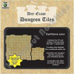Dry Erase Dungeon Tiles: Earthtone - Combo Pack of 5 Ten Inch and 16 Five Inch Squares