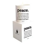 "Quotable Candle - ""Peace"""