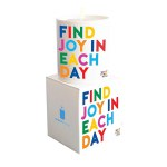"Quotable Candle - ""Find Joy In Each Day"""