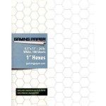 """Gaming Paper Singles: White 1"""" Hex (100 Sheets)"""