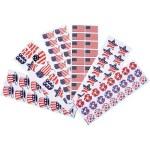 100 Sheet - Patriotic Sticker Assortment
