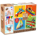 Anker Art: Paint Your Own 4 in 1 Wooden Vehicles