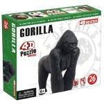 4D - 26 Piece Puzzle Gorilla