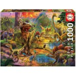 1000 Piece Puzzle - Land Of Dinosaurs