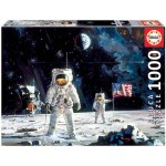 1000 Piece Puzzle - First Men On Moon