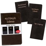 Final Notes - Set Of 3 Notebooks - My Legacy, Epitaph Ideas, Deathbed Requests
